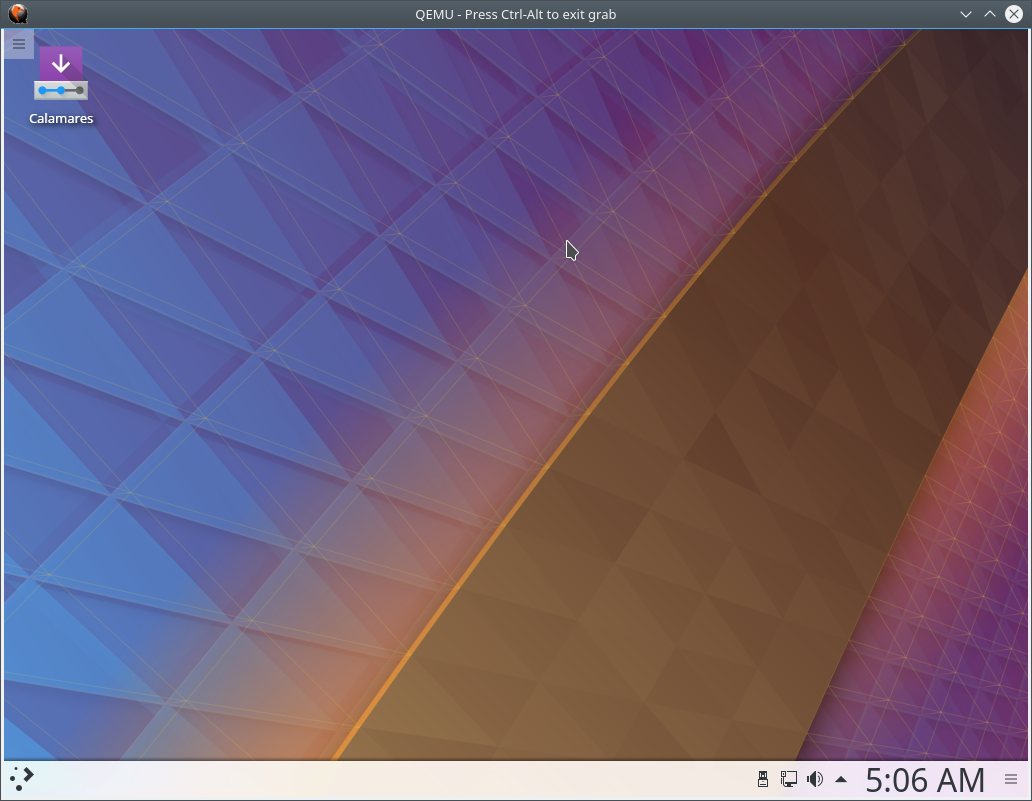 KDE Neon startup