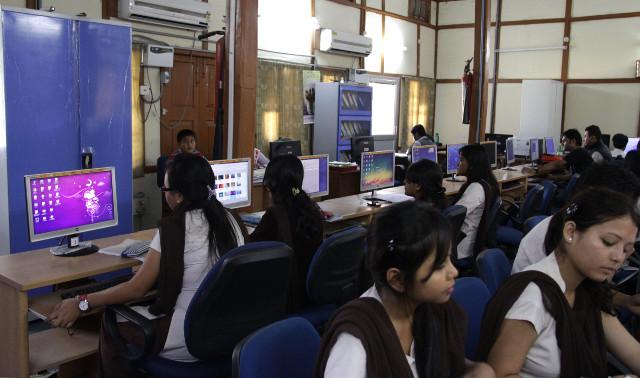 Students in Gauhati University