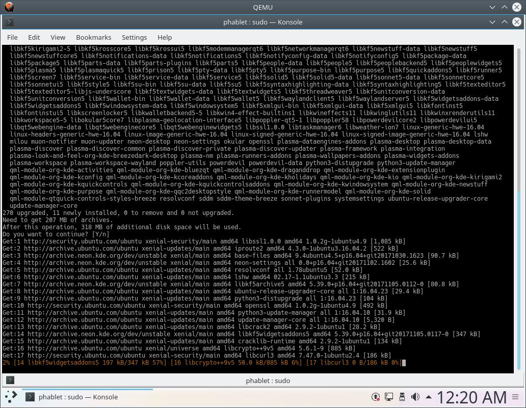KDE Neon install updates