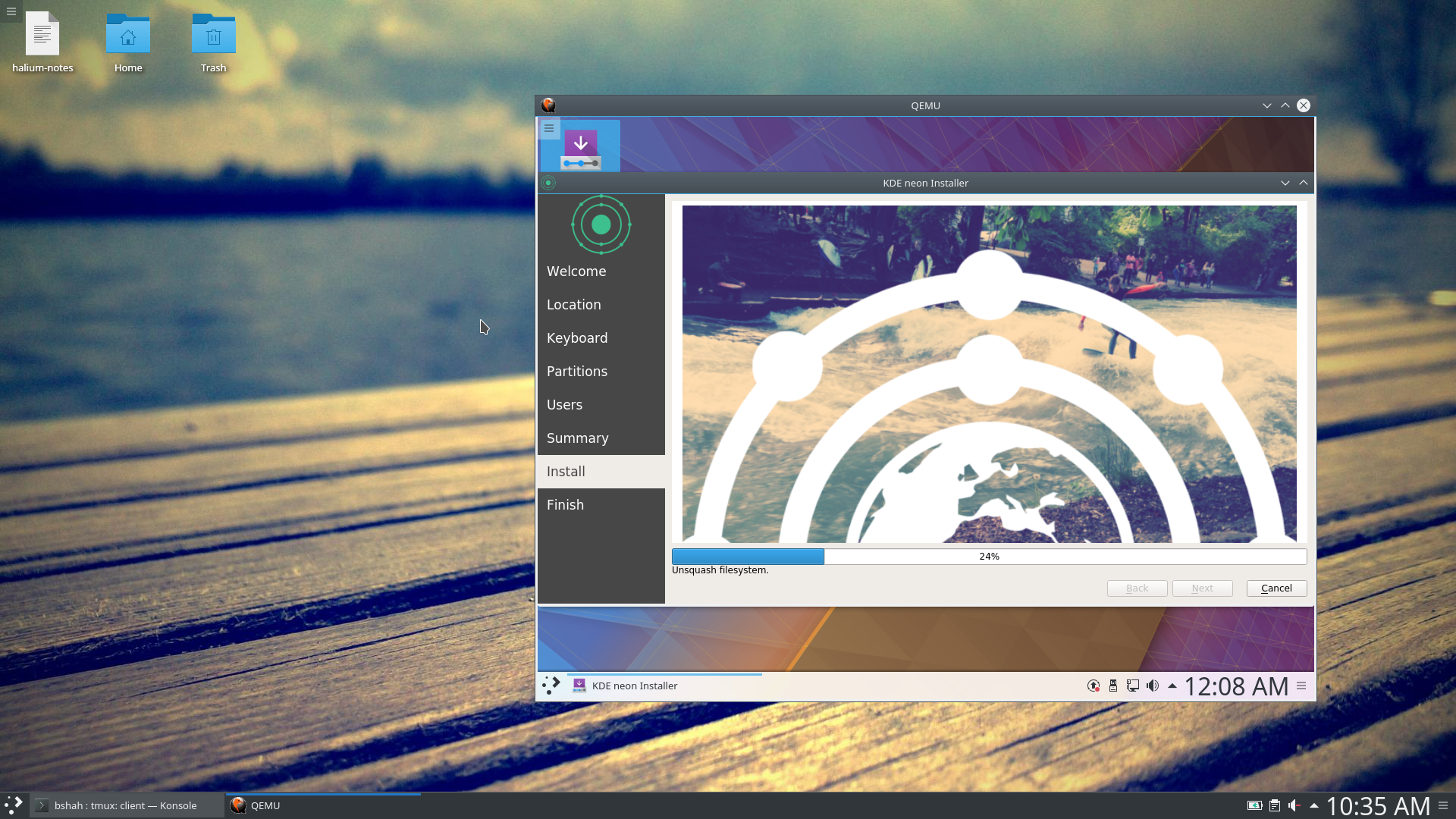 KDE Neon Installation